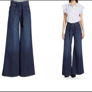 Frame denim Le Palazzo belted dark wash jeans 26